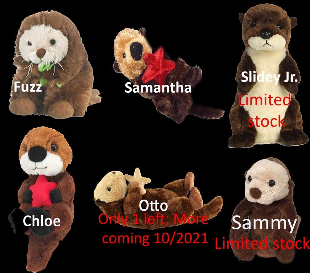 sea otter stuffed animals for adoption